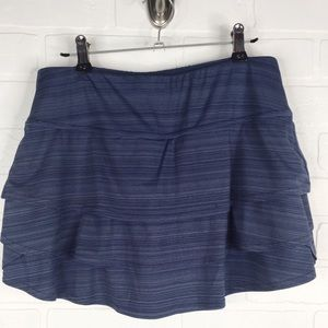 Athleta Swagger Tiered Gray Skort Small Athletic